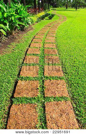 Winding path.