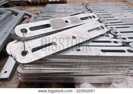 Flat Metal Bar Stack In Group