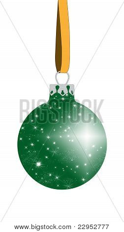 Green Christmas ball