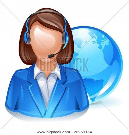 global customer service representative icon
