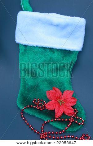 Meia de Natal verde