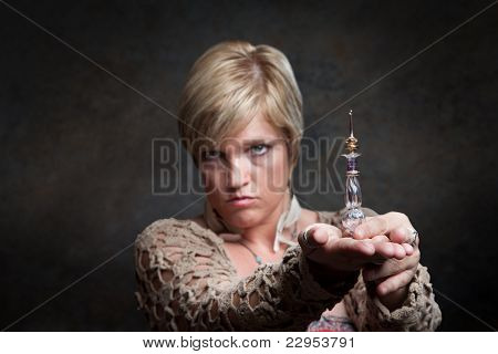 Woman With Potion Bottle