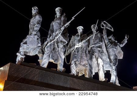 Detail Of The Monument To The Heroic Defenders Of Leningrad