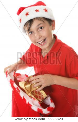 Child With A Sack Of Presents
