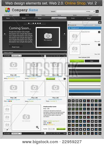 Web Design Elements Set. Online Shop 2