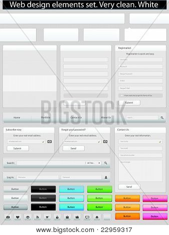 Web Design Elements Clean White