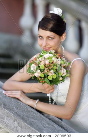 Portrait Of A Smiling Bride