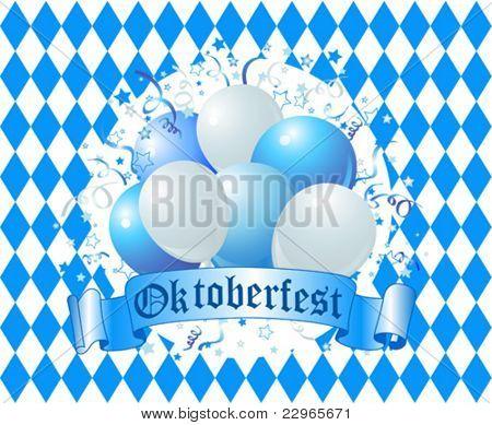 Oktoberfest Balloons Celebration Background