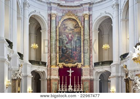 An image of the Hofkirche in Dresden Germany