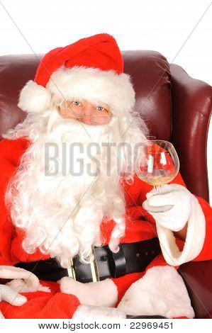 Santa enjoying a drink