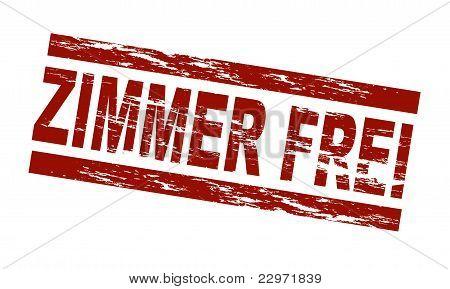 Stamp - Zimmer frei (Engl.: vacancy)