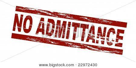 Stamp - No admittance