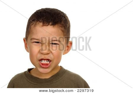 Boy With Angry Face