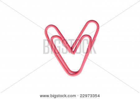 Pink Paperclip Heart