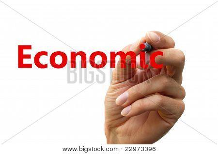 Hand Writing A Word