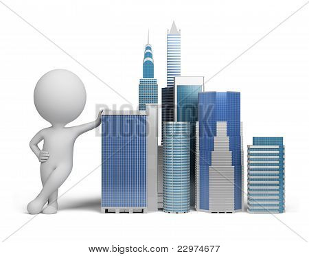 3D Small People - Skyscrapers