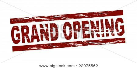 Stamp - grand opening