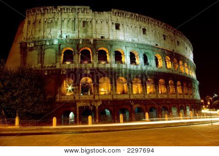 Colosseum At Nigh In Marvelous Illumination