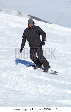 Black Snowboarder