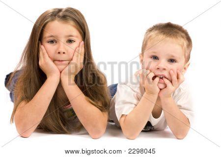 Two Kids Making Desicion