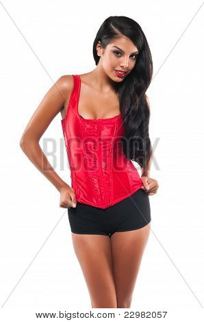 Red Bustier