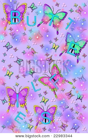 Bling, Butterflies And Bugs Lilac