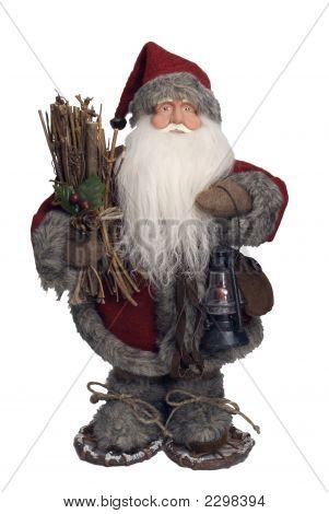 Santa Claus llevar leña