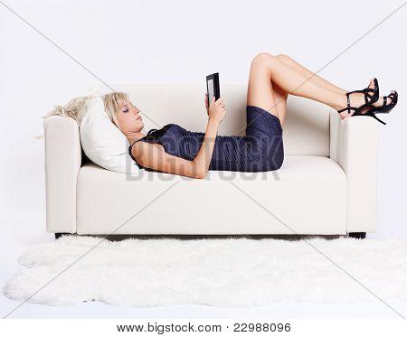 Girl With E-book