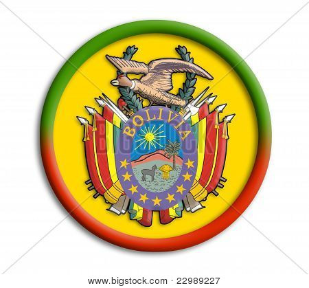 Bolivia button shield on white background