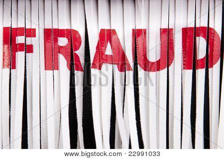 Destruição de fraude.