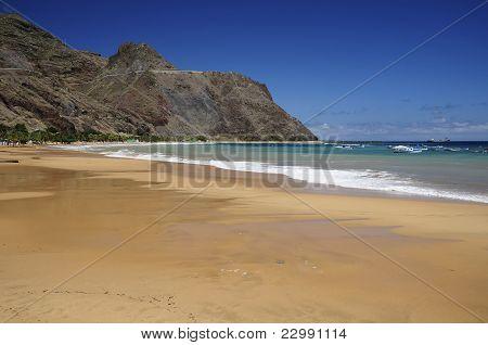 Teresitas Beach In Tenerife