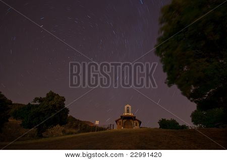 Starry night in the chapel of Cercedilla - 2