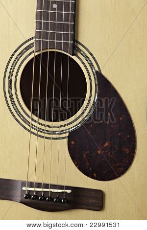 Guitar Acoustic Body Close Up