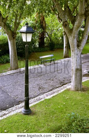 Lamp And Bench