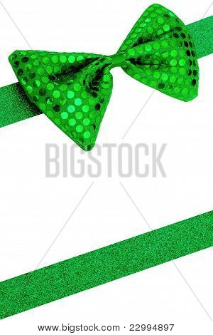 Bowtie With Ribbon Background