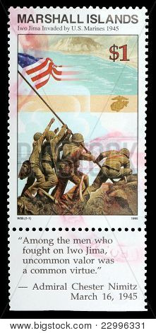 A 1-dollar Stamp Printed In The Republic Of The Marshall Islands