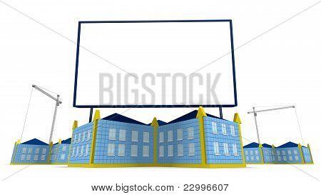 Billboard e accione edifício