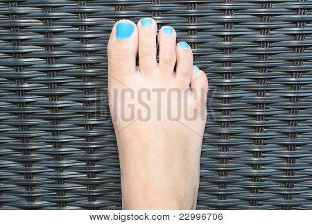 Female Right Foot Closeup