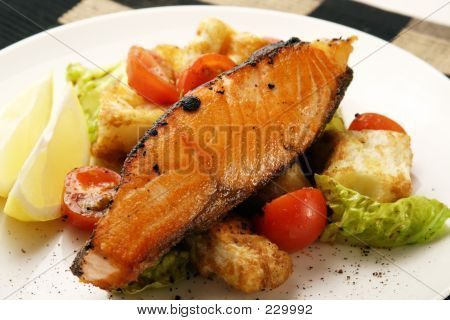 Salmon With Panzanella