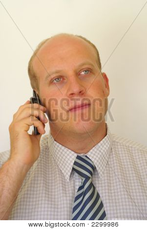 Young Businessman With Cell Phone