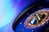 Casino. High Contrast Image Of Casino Roulette. Bokeh Background. poster