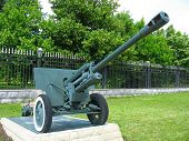 Old Anti-tank Cannon Gun Monument