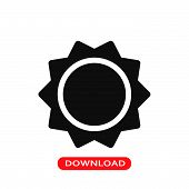 Sun Icon Vector In Modern Flat Style For Web, Graphic And Mobile Design. Sun Icon Vector Isolated On poster