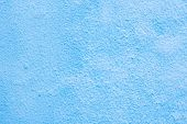Background Of A Blue Stucco Coated And Painted Exterior, Rough Cast Of Cement And Concrete Wall Text poster