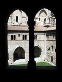 pic of avignon  - UNESCO World Heritage Site courtyard of The Palais des Papes  - JPG