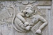 stock photo of hanuman  - Ramayana bas - JPG