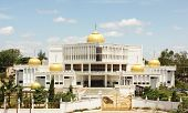 foto of gurudwara  - Gilded onion domes of the Govind Singh Museum at Nanded - JPG