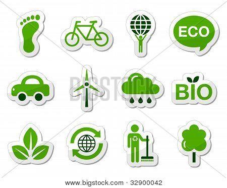 Green / eco icons