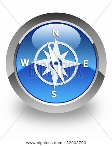 Compass glossy icon