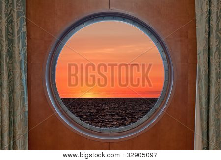 Sunrise Through Porthole